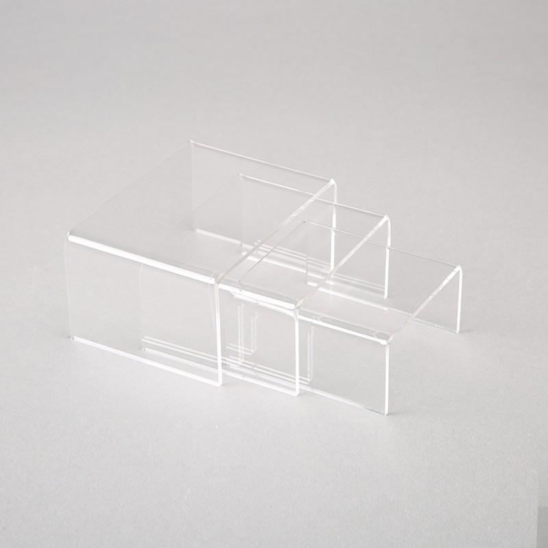 3 Alzatine In Plexiglass - Alfa-80 Centro Vetrine